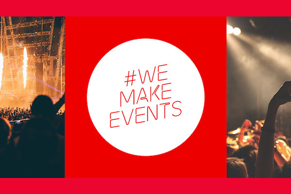 Brighton & Hove to light up in red tonight for #WeMakeEvents global campaign