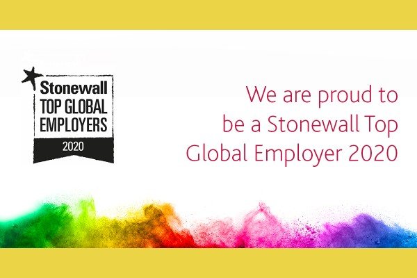 Stonewall Lists Top Global Employers 2020 for LGBT Equality