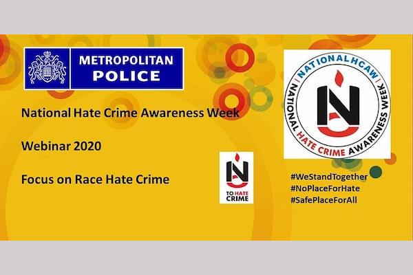 National Hate Crime Awareness Week: Race Hate Crime Webinar on Monday, October 12