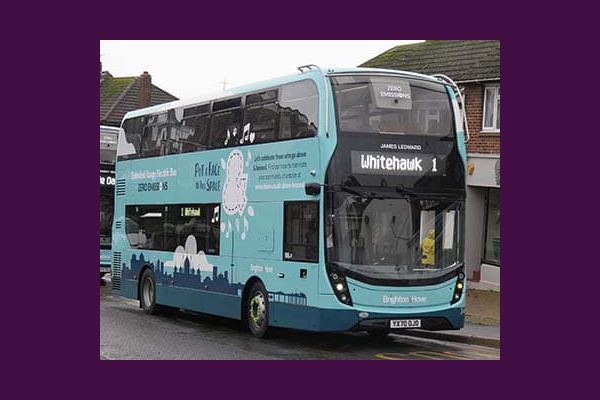 New bus carries tribute to James Ledward