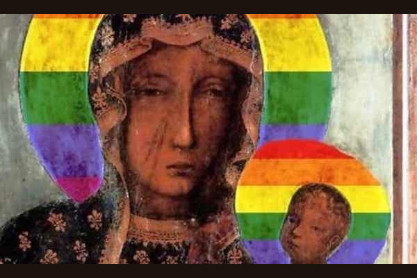 Poland: Three women on trial for posters of 'Virgin Mary' with LGBTQ+ rainbow halo