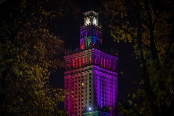 Update: Polish LGBTQ+ activist says rainbow light show isn't sufficient