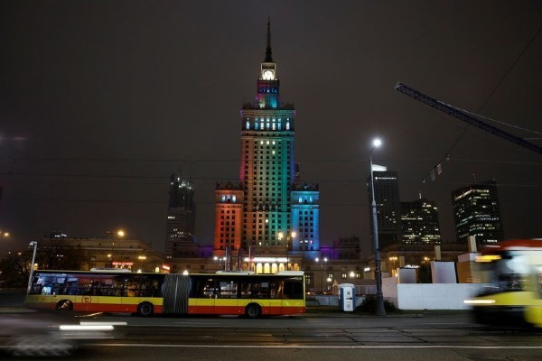 Polish cities lit up rainbow in solidarity with LGBTQ+ citizens