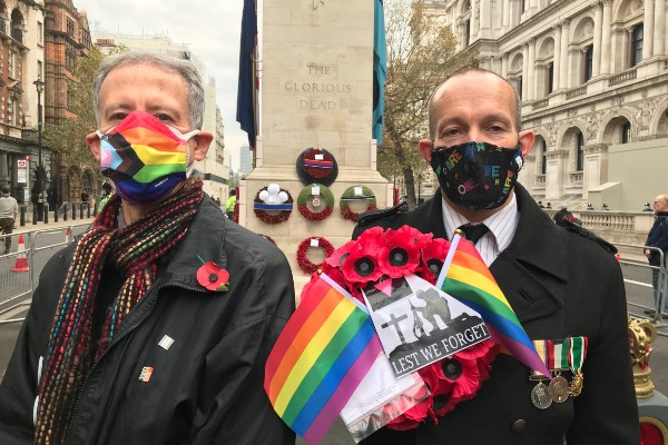 Remembrance Sunday: wreath dedicated to LGBTQ+ soldiers
