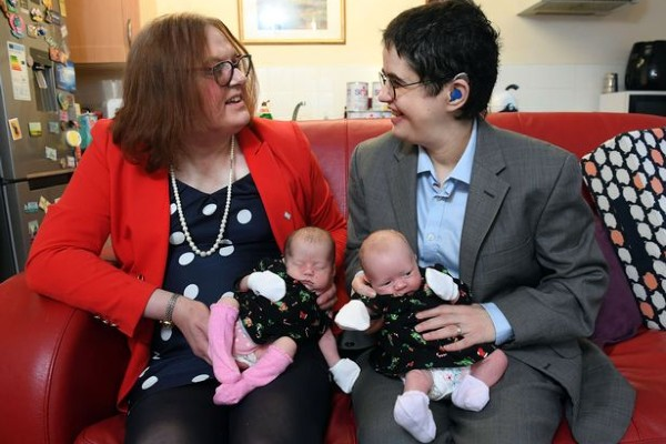 Belfast partners are the first UK trans couple to have twins