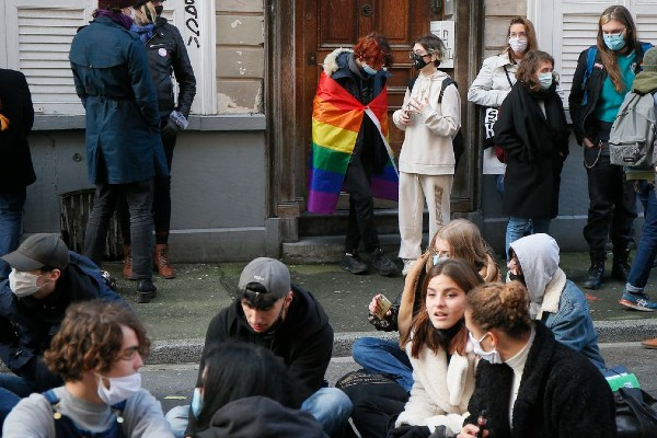 French students protest for trans rights