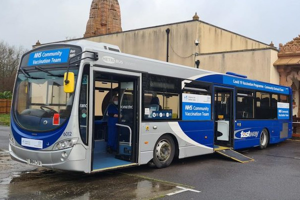 The NHS and Metrobus launch Covid-19 Mobile Vaccination Unit
