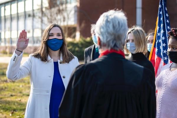 Sarah McBride sworn in as US senator