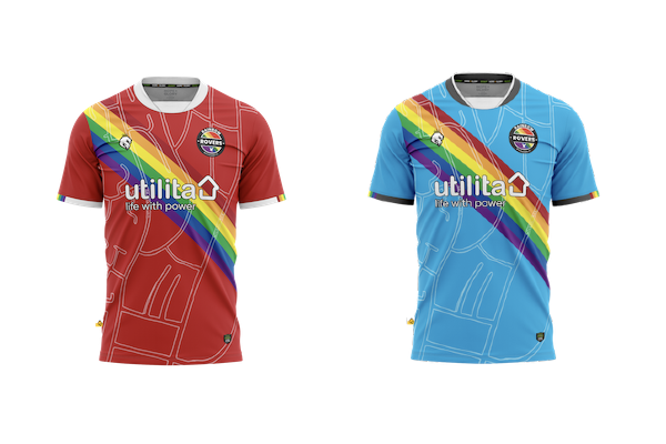 Rainbow Rovers unveils new kit, website and first match of 2021