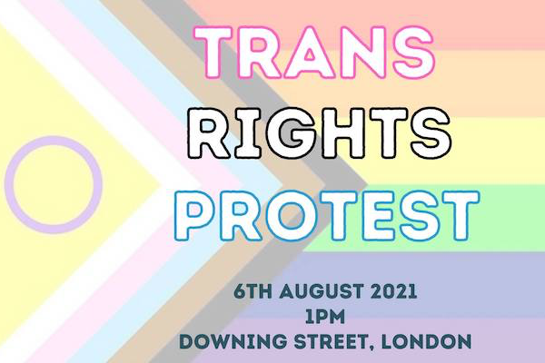 Trans Rights Protest to take place at Downing Street on Friday, August 6 from 1pm