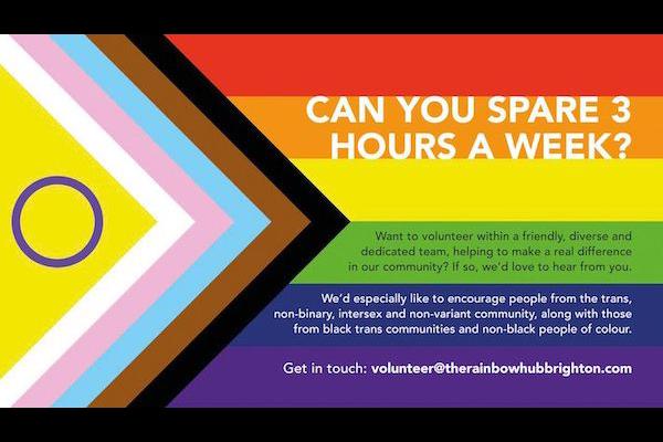 The Rainbow Hub seeks volunteers