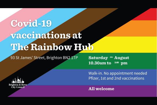 LGBTQ+ Vaccine Session at the Rainbow Hub today!