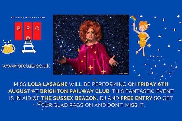 Lola Lasagne to perform at Brighton Railway Club