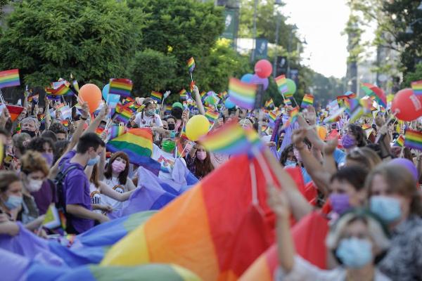 March for LGBTQ+ rights in Romania