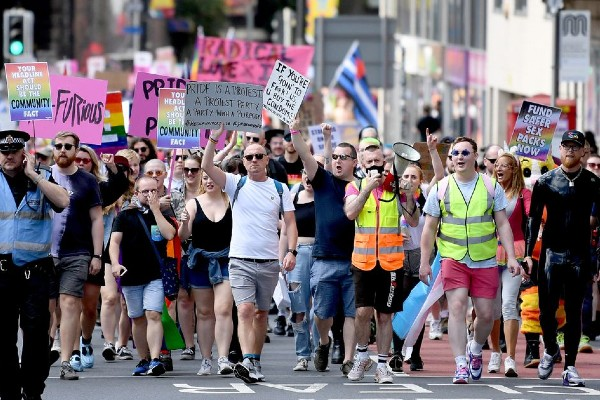 Manchester holds Reclaim Pride march