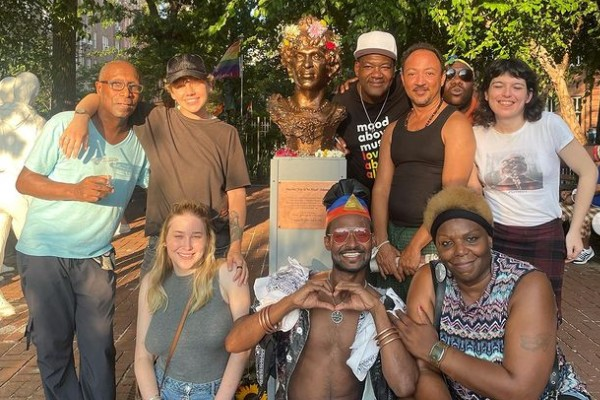 Activists create Marsha P Johnson monument in New York