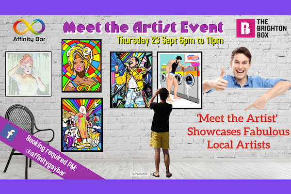Brighton Box and Affinity Bar to raise funds for Sussex Beacon with Meet the Artist event