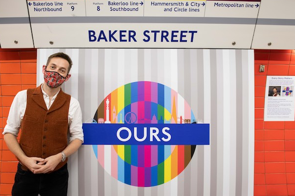 Pride roundels installed across Tube network to celebrate London's LGBTQ+ community