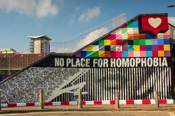 Southampton Football Club's 'no place for homophobia' campaign unveils a statement of support with inspirational mural